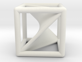 Segre embedding in a cube (XXL). in White Natural Versatile Plastic