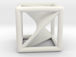 Segre embedding in a cube. in White Natural Versatile Plastic
