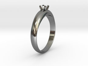 Ø19.70 mm Diamond Ring Ø3.7 Mm Diamond Fit in Polished Silver