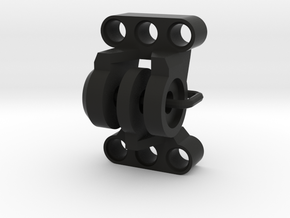"""Adapter for GoPro and LEGO® Technic """"Black Rock"""" in Black Natural Versatile Plastic"""