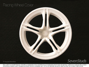 Racing Wheel Cover 01_56mm in White Strong & Flexible