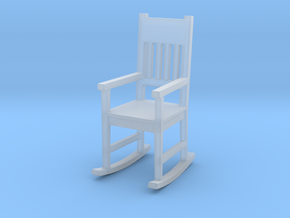 Miniature 1:48 Rocking Chair in Smooth Fine Detail Plastic