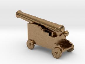Miniature 1:48 Pirate Cannon in Natural Brass
