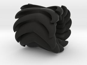 V Bead 1 in Black Natural Versatile Plastic