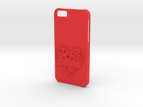 Iphone 6  case Love in Red Processed Versatile Plastic