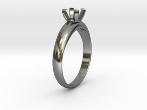Ø19.70 Mm Diamond Ring Ø5.6 Mm Fit in Polished Silver