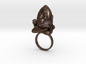 HUMPTY BUDA RING in Polished Bronze Steel