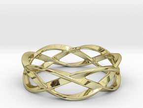 Weave Ring (Large) in 18k Gold Plated Brass