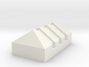 Piquete, picket standar G scale (1:22) in White Natural Versatile Plastic