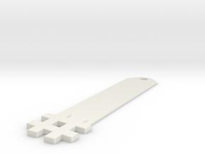 Hashtag Keychain in White Natural Versatile Plastic