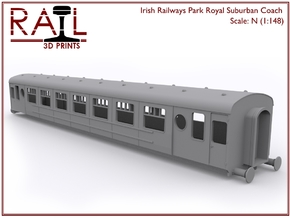 N Scale Irish Railways Park Royal Suburban Coach in Smooth Fine Detail Plastic