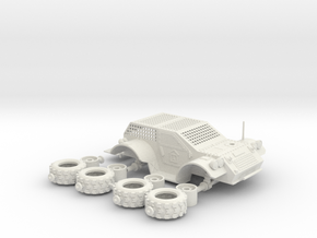 4x4 Domain Courier Car in White Strong & Flexible