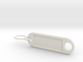 real keychain in White Natural Versatile Plastic
