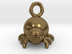 Cute Spider in Polished Bronze