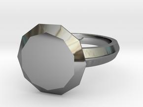 My best Friend Diamond in Fine Detail Polished Silver