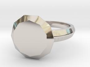 My best Friend Diamond in Rhodium Plated Brass