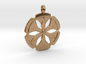 FLOWER POWER in Polished Brass