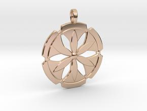 FLOWER POWER in 14k Rose Gold Plated Brass