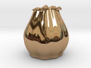 Flower Vase in Polished Brass