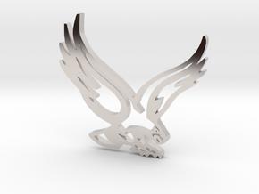 BHS Hawk in Rhodium Plated Brass