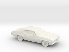 1/87 1968-72 Pontiac Le Mans in White Strong & Flexible