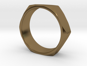 Nut Ring 14 in Polished Bronze