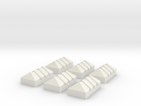 Piquete Standar,Picket G Scale 6 Units (1:22) in White Strong & Flexible