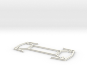 3mm bumpers and side shields for ZMR250 in White Natural Versatile Plastic