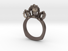 Il Duomo Ring in Polished Bronzed Silver Steel