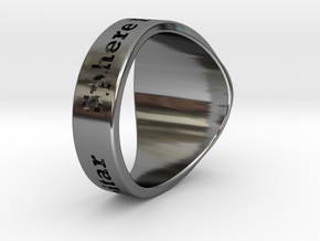 Nuperball Anze Capitar Ring Season 4 in Fine Detail Polished Silver