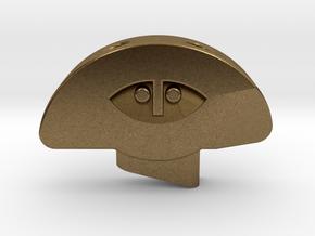 Stele Pendant in Natural Bronze