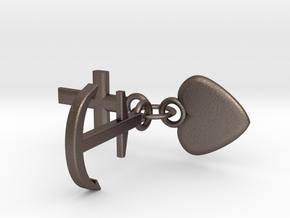 Schlüsselanhänger Glaube Liebe Hoffnung in Stainless Steel