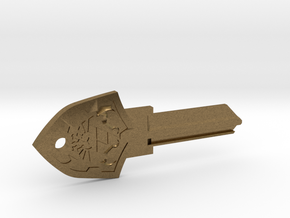 Zelda Shield House Key Blank - KW1/66 in Natural Bronze