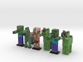 Zombie Horde in Full Color Sandstone