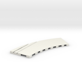 P-65stp-curve-rh-junction-outer-145r-75-pl-1a in White Natural Versatile Plastic