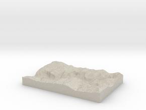 Model of Yosemite in Sandstone
