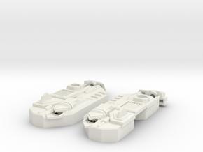 Blocky Glider Leg Extension V2 in White Natural Versatile Plastic