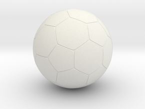 "Foosball 1.2"" Inch / 3.048 cm diameter in White Natural Versatile Plastic"
