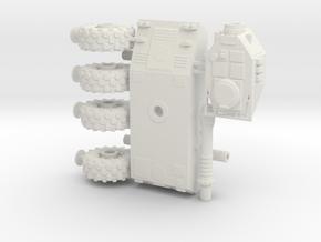 1/100 Wheeled Tiran tank in White Natural Versatile Plastic