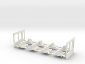 G2 Wiener Strassenbahn Inneneinrichtung in White Natural Versatile Plastic