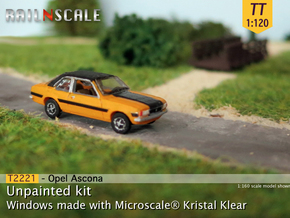 Opel Ascona B (TT 1:120) in Smooth Fine Detail Plastic