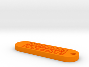 Keychain 20€ donate in Orange Processed Versatile Plastic