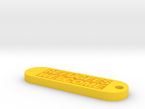 Keychain 50€ donate in Yellow Processed Versatile Plastic