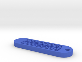 Keychain 250€ donate in Blue Processed Versatile Plastic
