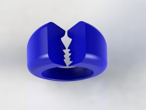 Lovers Ring 03 D19.8mm Size 10 in Blue Processed Versatile Plastic