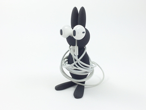 WrappedRabbit - EarPod Holder in Black Natural Versatile Plastic