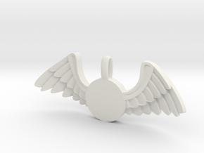 Journeyer-Flying - Key chain in White Natural Versatile Plastic