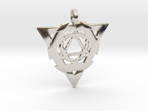 GEO-TRINITY in Rhodium Plated