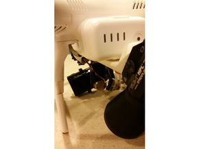 DJI Phantom Searchlight Mount in White Strong & Flexible