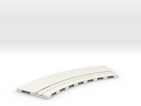 P-65stp-curve-tram-road-inner-145r-75-pl-1a in White Natural Versatile Plastic